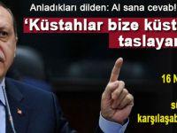 """Cumhurbaşkanı Erdoğan'dan Batı'ya; """"Küstahlar bize küstahlık taslayamaz!"""""""