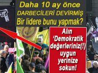 İsviçre'de 'Erdoğan'ı öldür' pankartlı hayır kampanyası!