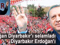 """Cumhurbaşkanı Erdoğan Diyarbakır'ı selâmladı; """"Hezar caran ere!"""""""