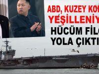 """ABD,  Kuzey Kore'ye """"yeşilleniyor"""";  Hücum filosu yola çıktı"""
