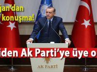 Cumhurbaşkanı Erdoğan AK Parti'ye resmen üye oldu ve tarihi bir konuşma yaptı!