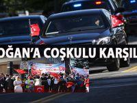 Cumhurbaşkanı Erdoğan ABD'de sevgi gösterileriyle karşılandı