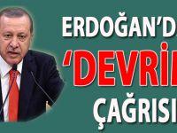 """Cumhurbaşkanı Erdoğan'dan """"devrim"""" çağrısı!"""
