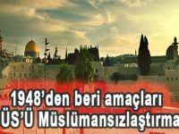 1948'den beri amaçları KUDÜS'ü müslümansızlaştırmak...