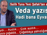 """Salih Tuna Yeni Şafak'tan ayrıldı; """"Hadi bana eyvallah!"""""""