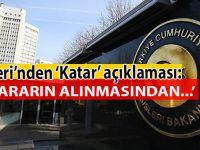 """Türkiye'den """"Katar"""" açıklaması!"""