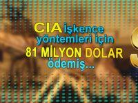 CIA, 'işkence yöntemleri' için 81 milyon dolar ödemiş.