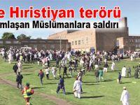 """İngiltere'de yine """"Hıristiyan terörü""""; Bayramlaşan Müslümanlara saldırı!"""