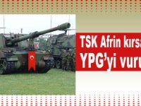 TSK, Afrin kırsalında YPG mevzilerini obüslerle vuruyor!