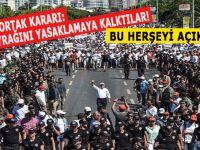Mitingde Türk Bayrağını yasaklamaya kalktılar!
