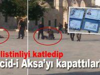 3 Filistinli'yi katledip Mescid-i Aksa'yı kapattılar!