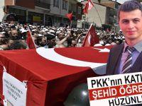 PKK'nın katlettiği öğretmene veda!