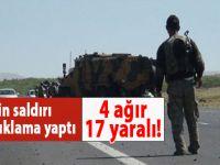 Hakkari'de hain saldırı; 4 ağır, 17 yaralı!