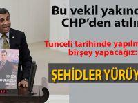 """Tunceli'de """"Teröre hayır"""" yürüyüşü!"""