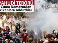 Yahudi terörü; Kudüs'te Cuma namazını kılan Müslümanlara saldırdılar!