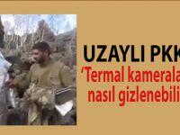 Alüminyum folyo kıyafetli PKK'lılar!