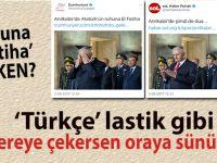 'Atatürk'ün ruhuna El Fatiha' derken?