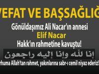 Gönüldaşımız Ali Nacar'ın annesi Hakk'ın rahmetine kavuştu!