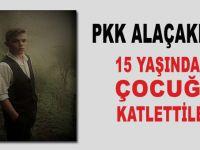 PKK alçaklığı; 15 yaşındaki çocuğu katlettiler!