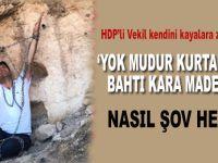 HDP'li vekilden Yeşilçam sahnelerini aratmayan bir poz!