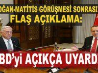 Erdoğan ile Mattis arasındaki kritik görüşme sonrası açıklama geldi!