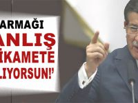 """""""O parmağı yanlış yere sallıyorsun Davutoğlu!"""""""