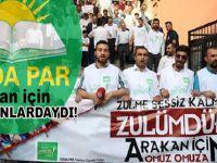 HÜDA PAR'dan 'Arakan' protestosu!