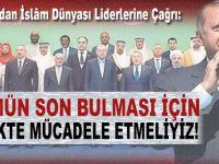 """Erdoğan: """"Zulmün son bulması için birlikte mücadele etmeliyiz!"""""""