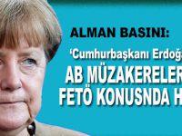"""Alman basını: """"Cumhurbaşkanı Erdoğan AB müzakereleri ve FETÖ konusunda haklı!"""""""