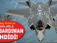 ABD savaş uçakları Kuzey Kore hava sahası etrafında uçtu!