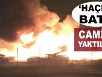 Hristiyan Haçlı kafası; Camiyi ateşe verdiler!