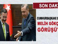 Cumhurbaşkanı Erdoğan, istifası gündemde olan Gökçek'le görüşüyor