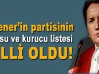 Akşener'in partisinin logosu ve kurucu listesi belli oldu!