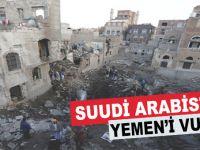 Suudi Arabistan jetleri Yemen Savunma Bakanlığını bombaladı!
