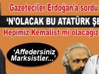 """Cumhurbaşkanı Erdoğan, """"Atatürk"""" sorusuna cevap verdi!"""