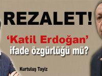 """""""Katil Erdoğan"""" ifade özgürlüğü mü?"""