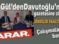 """Gül, Davutoğlu'nun """"içten yanmalı"""" gazetesini ziyaret etti!"""