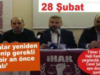 """Yılmaz Şahin; """"Halil Kantarcı ile birlikte yargılandık, şehid olmasa o da şimdi yargılanıyor olacaktı!"""""""