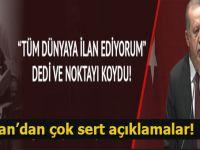 Erdoğan: Irak sınırına kadar hiçbir terörist kalmayana kadar operasyonlarımız sürecek