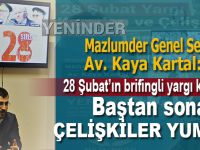 Mazlumder Genel Sekreteri Av. Kaya Kartal, YENİNDER'de 28 Şubat davalarındaki çelişkileri anlattı!