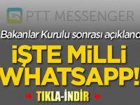 Yüzde yüz yerli WhatsApp kurduk