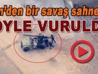 Afrin'den canlı bir savaş sahnesi; Teröristler böyle vuruldu!