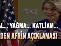 ABD'den yeni Afrin açıklaması!