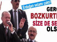 Cumhurbaşkanı Erdoğan'dan Bozkurt selâmı!