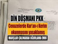 Terör örgütü YPG/PKK cenazelerde Kur'an-ı Kerim okunmasını yasaklamış