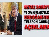 """Cumhurbaşkanlığı ve Beyaz Saray'dan """"telefon görüşmesi"""" açıklaması!"""