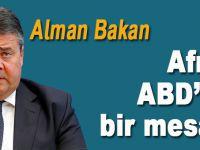 """Almanya'nın eski Dışişleri Bakanı Gabriel: """"Afrin, ABD'ye bir mesajdır!"""""""