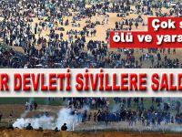 Yahudi terör devleti Filistinli sivillere saldırdı; ölü ve yaralılar var!