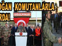 Başkomutan Erdoğan, komutanlarla sınır karakolunda!