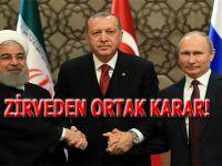Türkiye-Rusya-İran; Zirveden ortak karar!